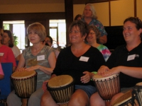 Drumming Circle at workshop