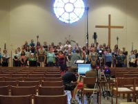CD Recording crew and chorus