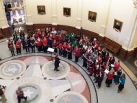 Chorus Preparing to sing - top view