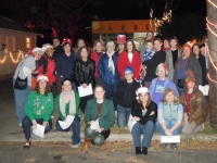 Tapestry Singers and Friends go caroling on  37th Street