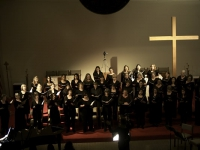 The chorus performs