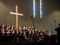 Choir rehearsing