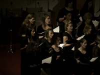 First sopranos singing