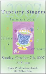 Anniversary Concert Program Cover