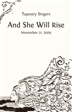 And She Will Rise Program Cover