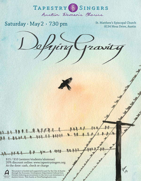Defying Gravity Concert Flyer